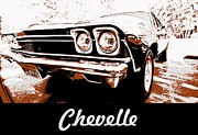 Bowtie Acrylic Prints - Chevelle Pop Art Acrylic Print by Cheryl Young
