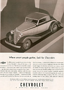 Vintage Automobiles Art - Chevrolet 1933 1930s Usa Cc Cars by The Advertising Archives