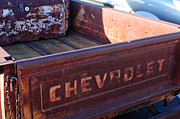 Chevrolet Pickup Truck Metal Prints - Chevrolet Apache 31 Pickup Truck Tail Gate Emblem Metal Print by Jill Reger