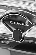 Belair Posters - Chevrolet Belair Nomad Dashboard Emblem Poster by Jill Reger