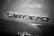 Badge Photos - Chevrolet Camaro Emblem Black and White Picture by Paul Velgos