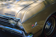 Chevelle Framed Prints - Chevrolet Chevelle SS Headlight Emblems Framed Print by Jill Reger