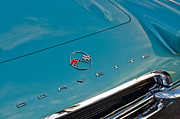Vette Posters - Chevrolet Corvette Hood Emblem 2 Poster by Jill Reger