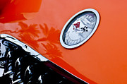 Chevy Photos - Chevrolet Corvette Hood Emblem by Jill Reger
