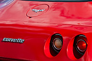 Taillights Prints - Chevrolet Corvette Taillights - Emblems Print by Jill Reger