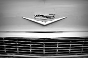 Monochrome Hot Rod Prints - Chevrolet Emblem Print by Chalet Roome-Rigdon