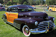 Fleetline Posters - Chevrolet Fleetline Woody 5D22785 Poster by Wingsdomain Art and Photography