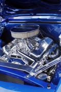Chrome Prints - Chevrolet Hotrod Engine Print by Jill Reger
