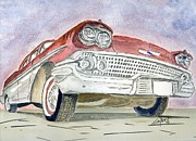 Classic Car Drawings - Chevrolet II by Eva Ason