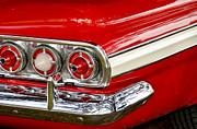 Red Street Rod Posters - Chevrolet Impala Classic Rear View Poster by Carolyn Marshall