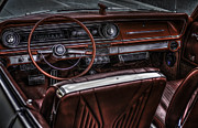 Oldtimer Metal Prints - Chevrolet Impala Interior Metal Print by Erik Brede