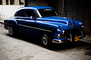 Blue Pyrography - Chevrolet in Havana by Dan  Grover