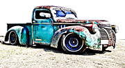 Old Chevrolet Truck Framed Prints - Chevrolet Pickup Framed Print by Phil
