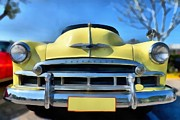 Vintage Hood Ornament Painting Prints - Chevrolet Skyline 1951 Print by George Atsametakis