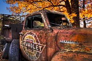 Old Trucks Photos - Chevrolet USA by Debra and Dave Vanderlaan