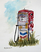 Abandoned  Paintings - Chevron by Sandy Linden