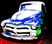 Colbalt Blue Posters - Chevy Art  Poster by Mark Moore