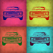 Muscle Car Digital Art Framed Prints - Chevy Camaro Pop Art 1 Framed Print by Irina  March