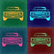 Muscle Car Digital Art Framed Prints - Chevy Camaro Pop Art 2 Framed Print by Irina  March