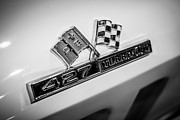 Jet Photo Prints - Chevy Corvette 427 Turbo-Jet Emblem Print by Paul Velgos