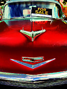 Old Hood Ornaments Posters - Chevy For Sale Poster by Colleen Kammerer