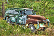 Chevy Truck Prints - Chevy Panel Van Memories Print by Ken Smith