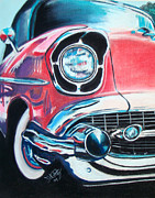 Muscle Pastels Framed Prints - Chevy Style Framed Print by Michael Foltz