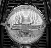 Monochrome Hot Rod Prints - Chevy Tail Light Print by Chalet Roome-Rigdon