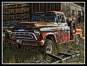 Transportation Framed Prints Prints - Chevy Truck Print by Ron Roberts