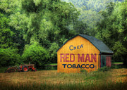 Landscapes Posters - Chew Red Man Poster by Lori Deiter