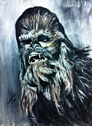 Chewbacca Paintings - Chewbacca # 2 by Wade Edwards