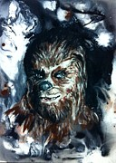 Chewbacca Framed Prints - Chewbacca  Framed Print by Wade Edwards