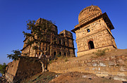 Orchha Framed Prints - Chhatris at Orchha Framed Print by Robert Preston