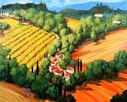 Chianti Vines Painting Framed Prints - Chianti Road Framed Print by Michael Swanson