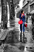 Umbrellas Digital Art - Chic by Nikolyn McDonald