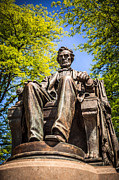 Abraham Lincoln Color Art - Chicago Abraham Lincoln Sitting Statue by Paul Velgos