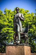 Abraham Lincoln Prints - Chicago Abraham Lincoln The Man Standing Statue  Print by Paul Velgos