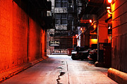 Chicago Art Prints - Chicago Alley Print by John Rizzuto