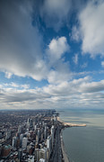 Lake Shore Drive Prints - Chicago Aloft Print by Steve Gadomski