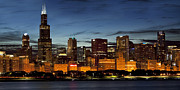 Fine Art Photo Art - Chicago at Twilight by Andrew Soundarajan