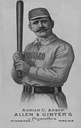Collectible Sports Art Prints - Chicago Ball Player 1887 Print by George Pedro