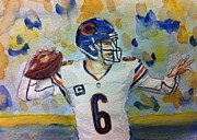 Football Paintings - Chicago Bears #6 Jay Cutler by Tiffany Albright