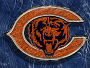 Nfl Digital Art Metal Prints - Chicago Bears Metal Print by Jack Zulli