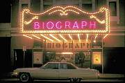 Biograph Posters - Chicago Biograph Movie Theater Poster by Robert Birkenes