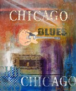 Chicago Blues Posters - Chicago Blues Poster by Gino Savarino