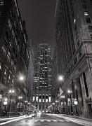 Twilight Photos - Chicago Board of Trade B W by Steve Gadomski