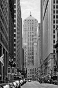 Chicago Skyline Bw Metal Prints - Chicago Board of Trade Metal Print by Christine Till