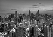 Chicago Photography Posters - Chicago BW Poster by Jeff Lewis