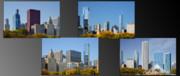 Panoramas Framed Prints - Chicago City of Skyscrapers Framed Print by Christine Till