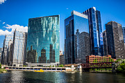 Popular Art - Chicago Cityscape Downtown City Buildings by Paul Velgos